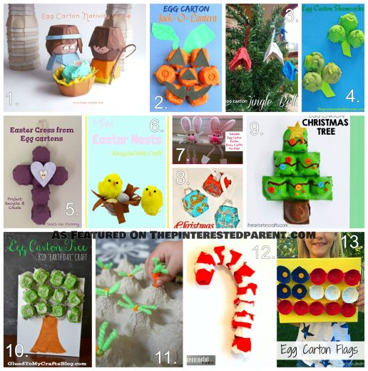 Egg Carton Holiday Crafts For Kids