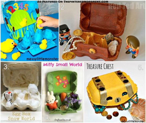 Egg Carton Play Worlds For Kids