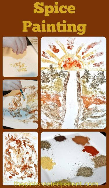 Expired Spices - _no problem. Use those spices for a little fun & messy art. Spice Painting for kids,
