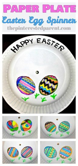 Paper plate Easter Egg kid's craft - spin the plates to change your designs,