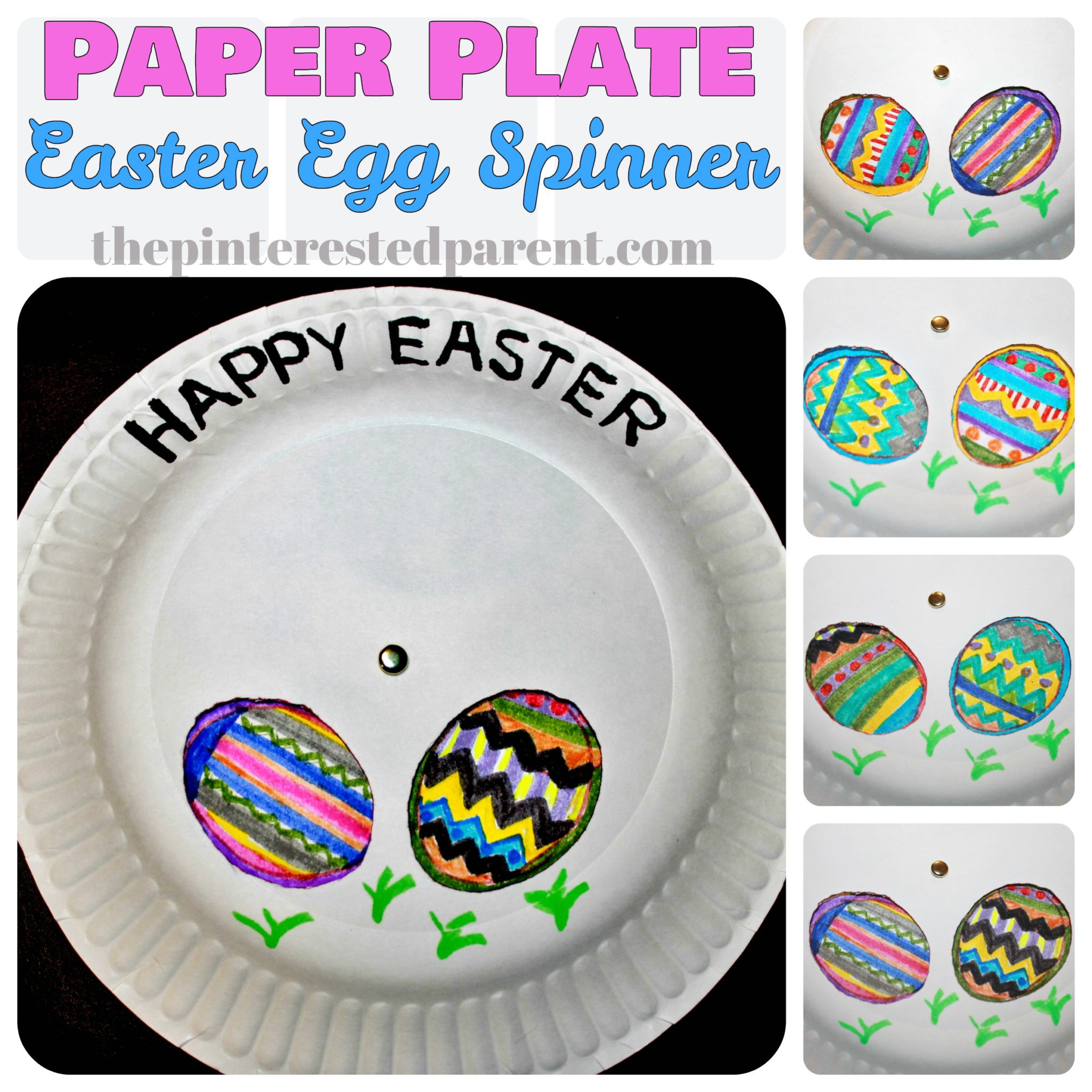 Paper Plate Easter Egg Kids Craft