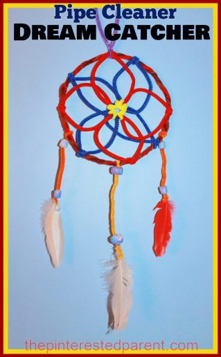 Pipe Cleaner Dream Catcher Craft