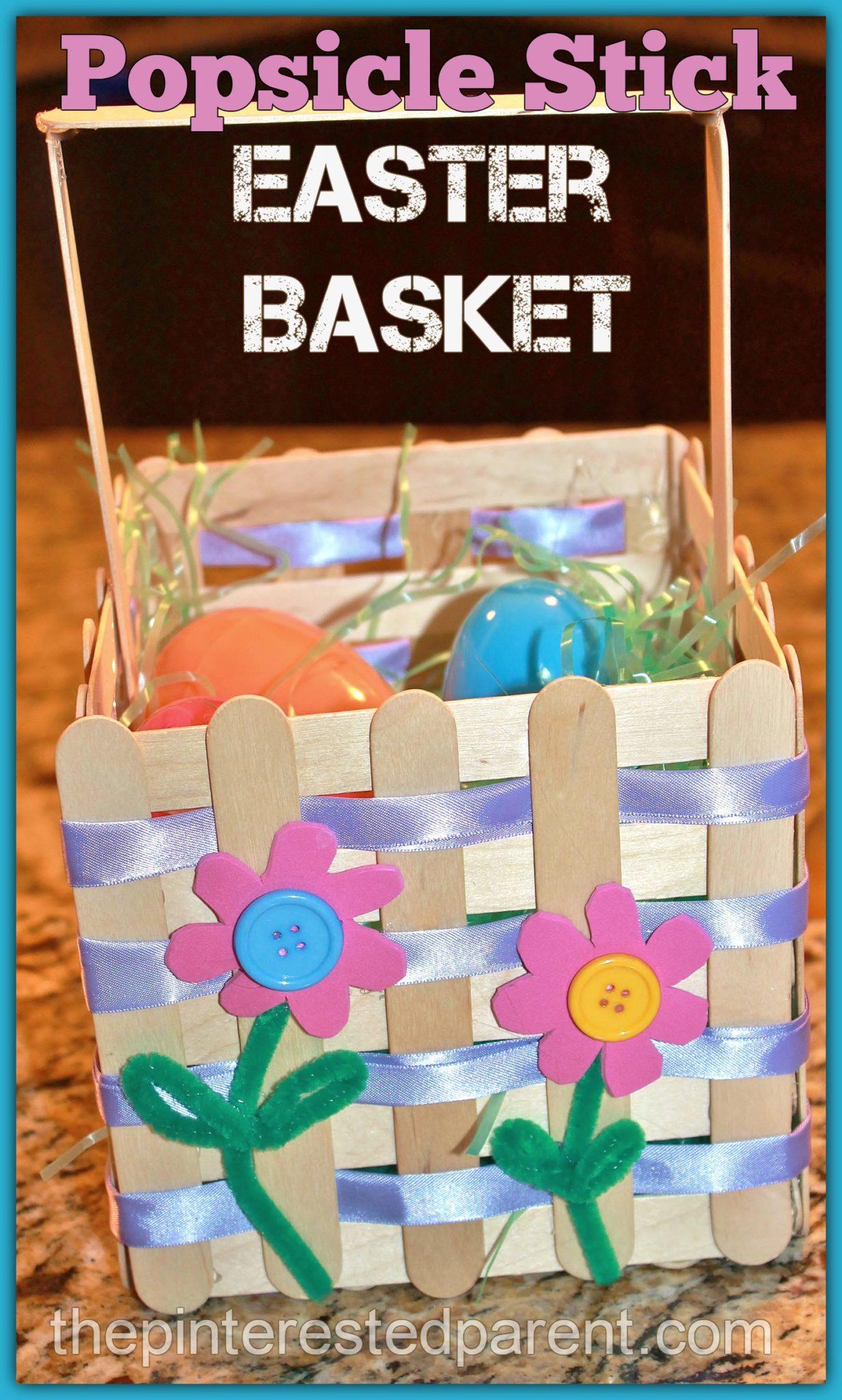 Craft Stick Easter Basket – The Pinterested Parent