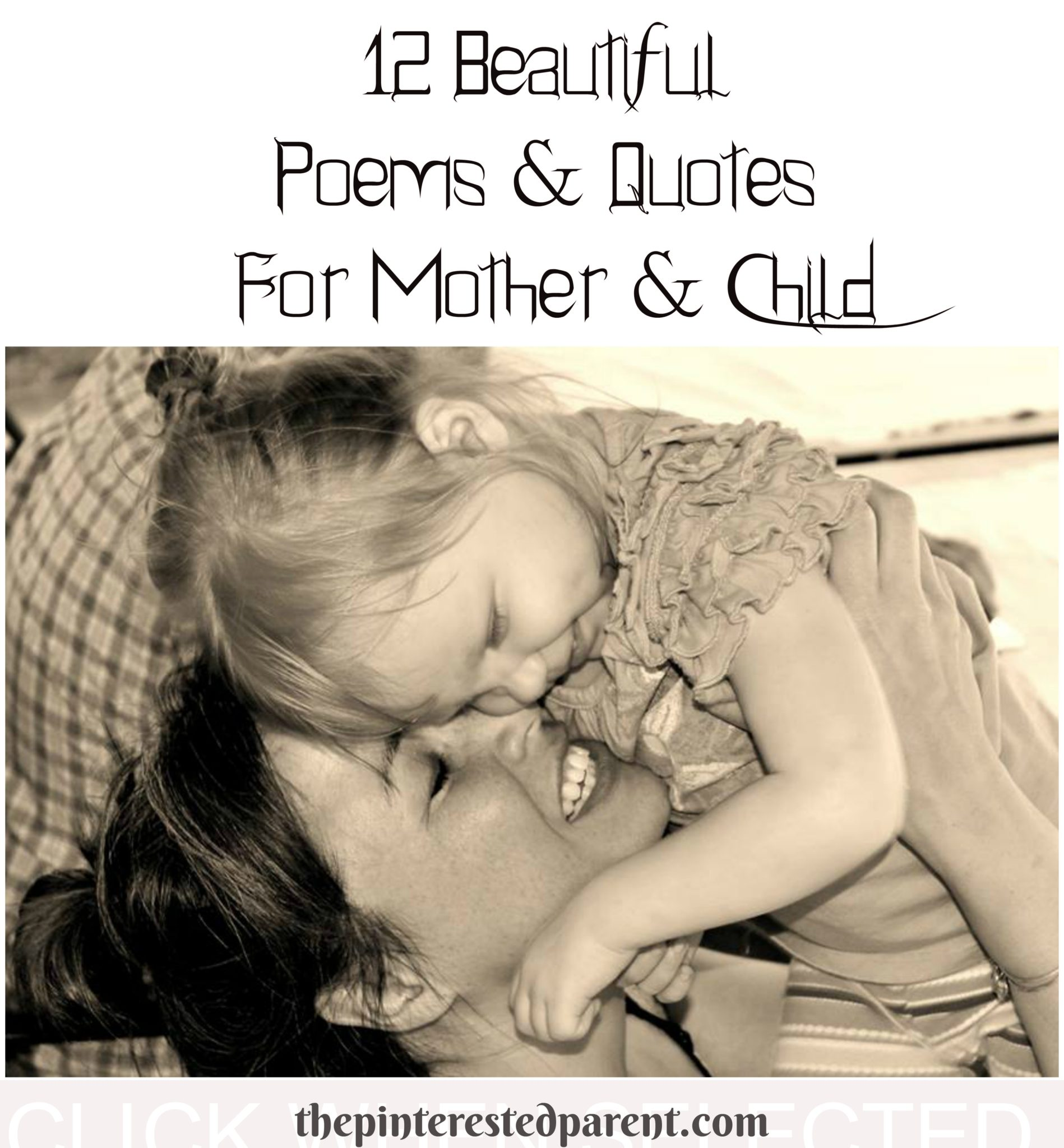 Poems Quotes For Mother Child The Pinterested Parent