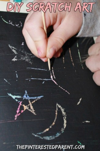 DIY scratch art cards for kids or adults. This craft was Inspired by Go To Sleep Little Farm