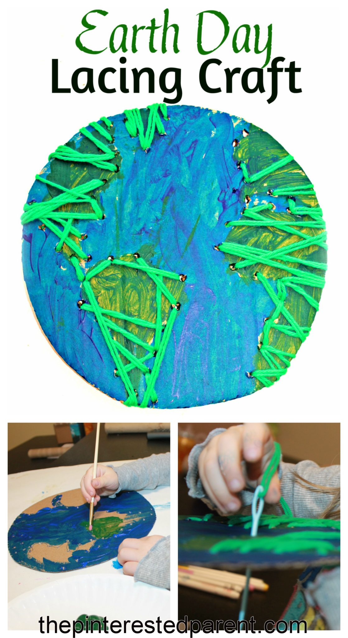 Earth Day Lacing Craft The Pinterested Parent