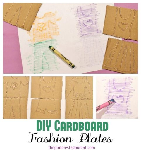 Remember Fashion Plates from when you were a little kids? DIY fashion plate crayon rubs . Quick and easy to make & tons of fun.  Arts & crafts and activities for kids.