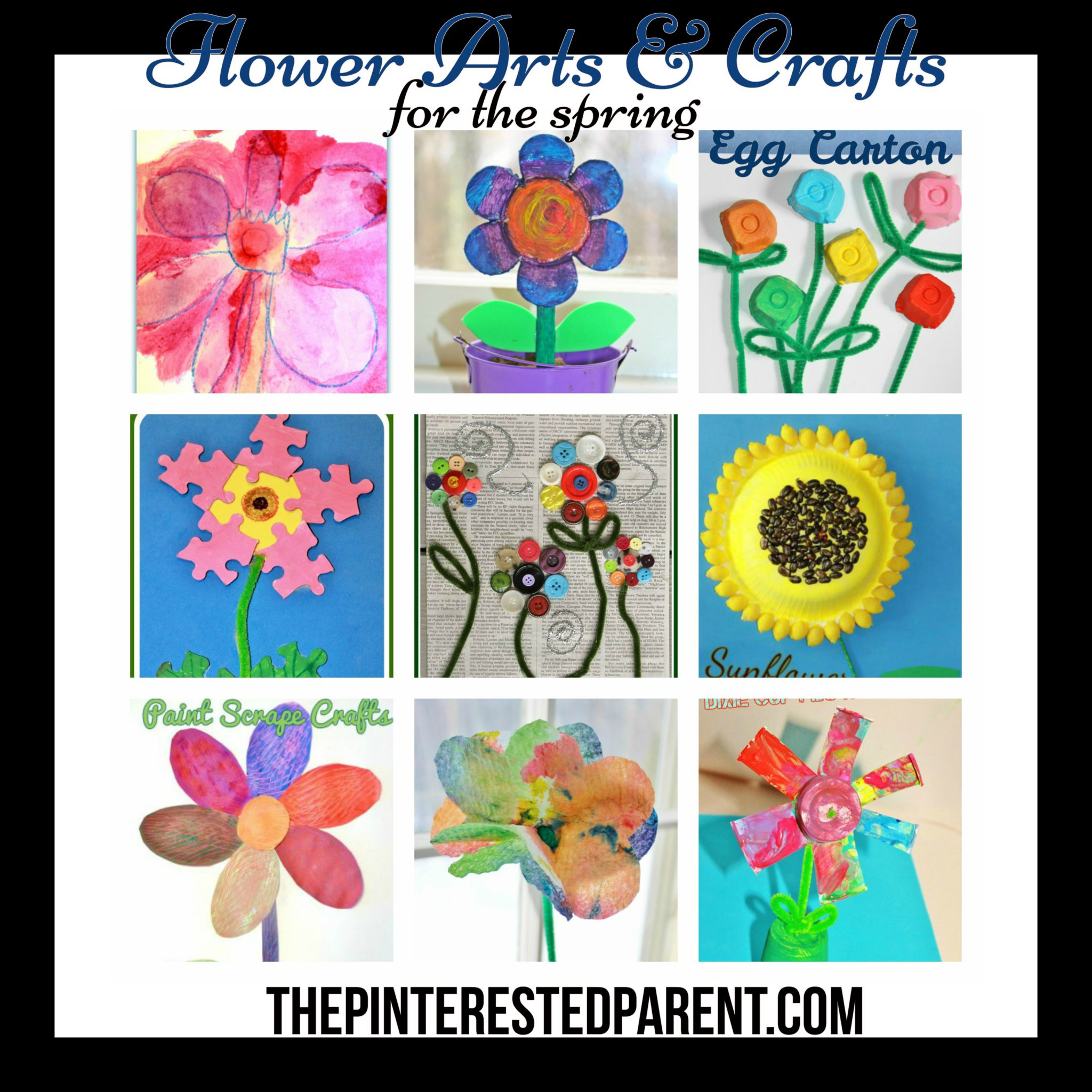 9 Flower Arts Crafts Projects For Kids The Pinterested Parent