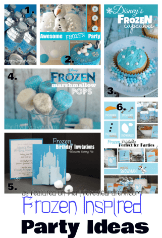 Frozen Inspired Birthday Party Ideas for kids. You little Elsa & Anna fans will love these ideas