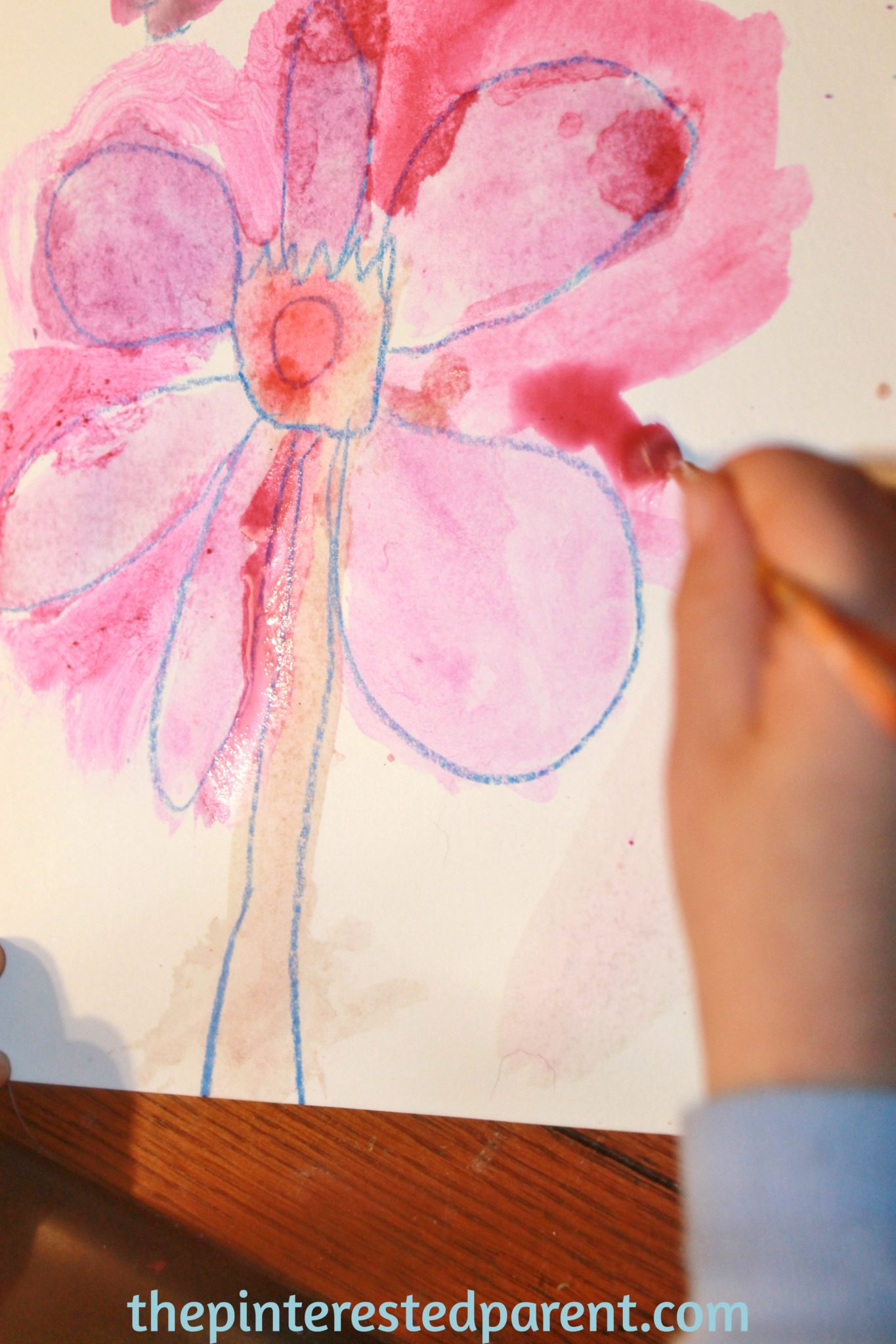 Watercolor art history - Georgia O Keefe Inspired Watercolor Flower Paintings For Kids Exploring Art History Famous