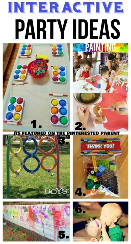 Interactive Party Ideas - Playdough, Legos, Art, Sports & Bubble play . Birthday party ideas for kids