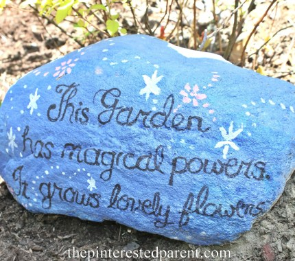 Painted rocks for fairy gardens. These would be adorable to line the edge of a kid's garden,