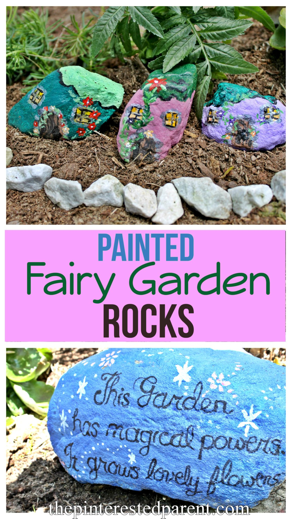 Painted Fairy Garden Rocks The Pinterested Parent