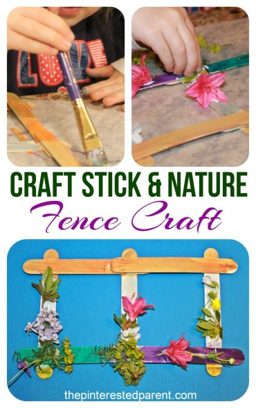 Popsicle stick nature craft for kids - pretty spring or summer arts & craft project