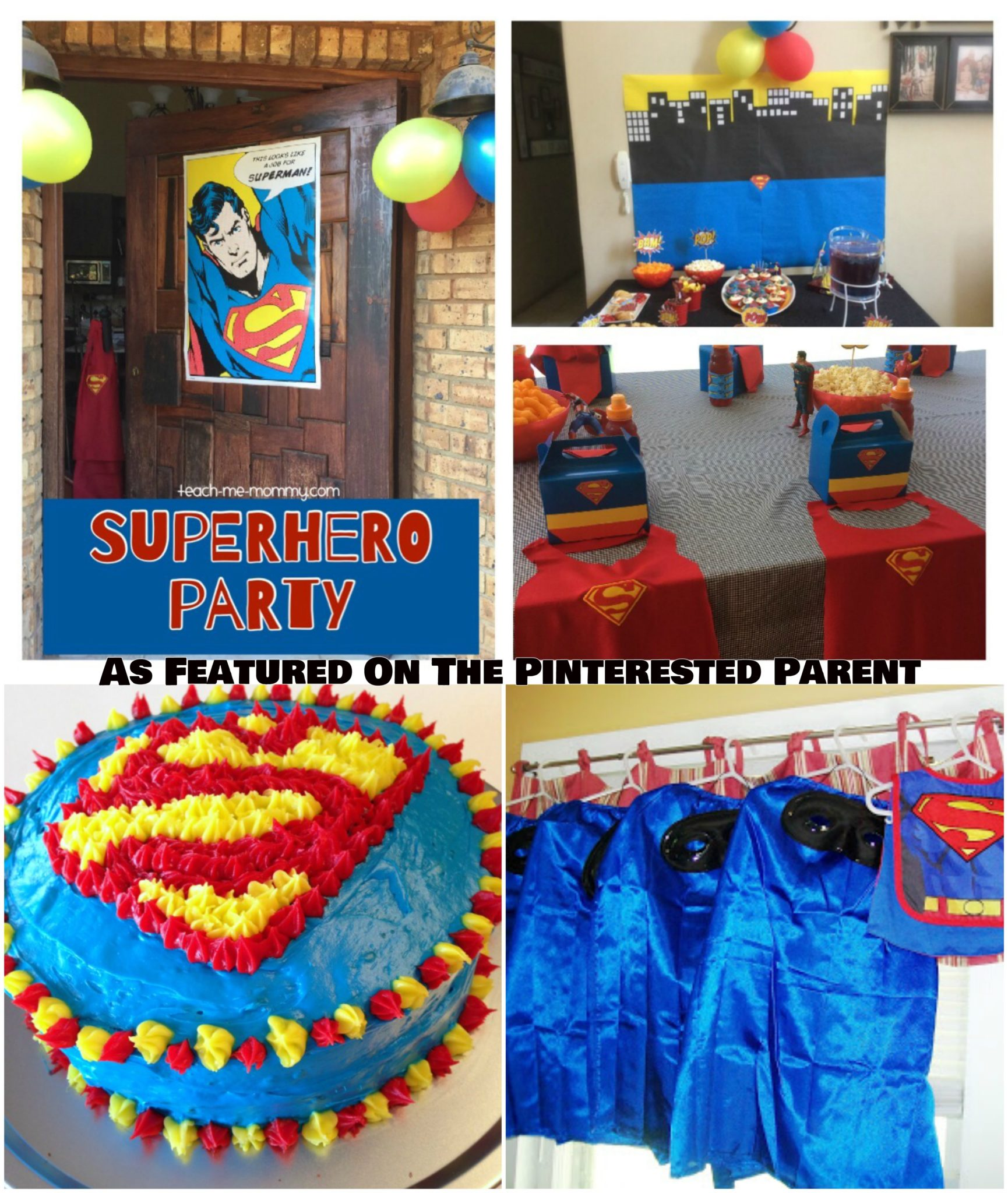 Superhero Themed Party Ideas For Kids