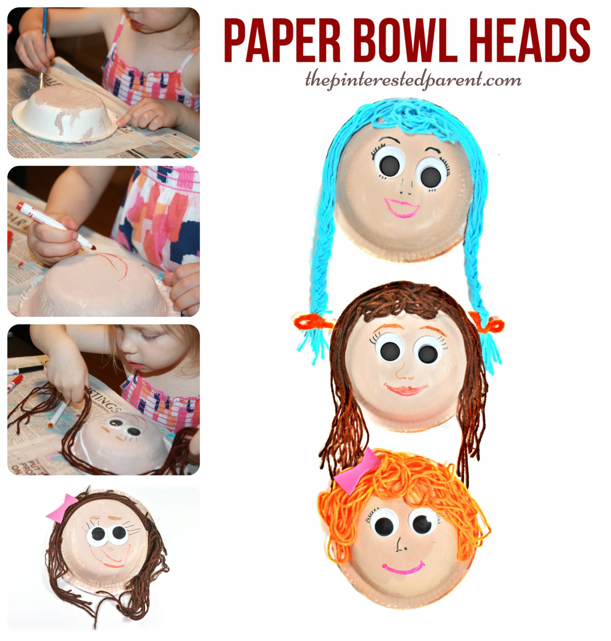 Paper Bowl Yarn Heads