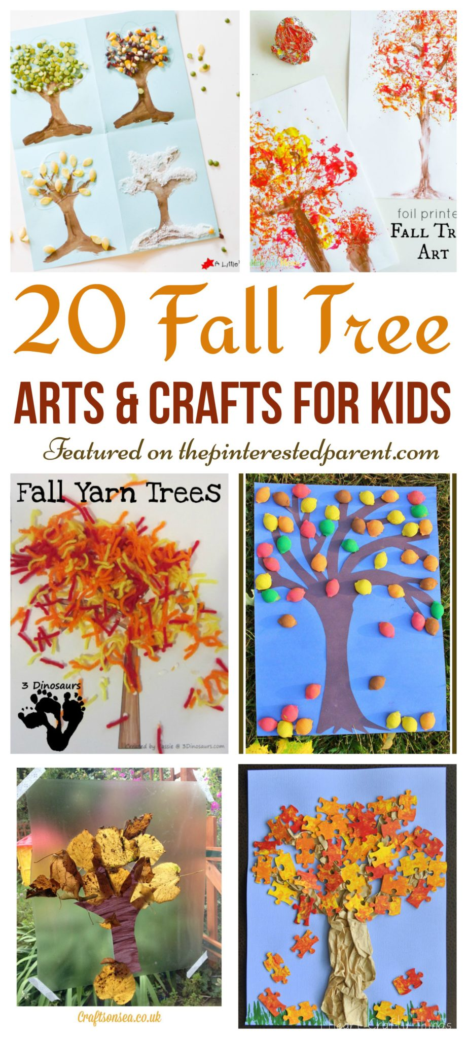20 fall tree arts u0026 crafts ideas for kids u2013 the pinterested parent