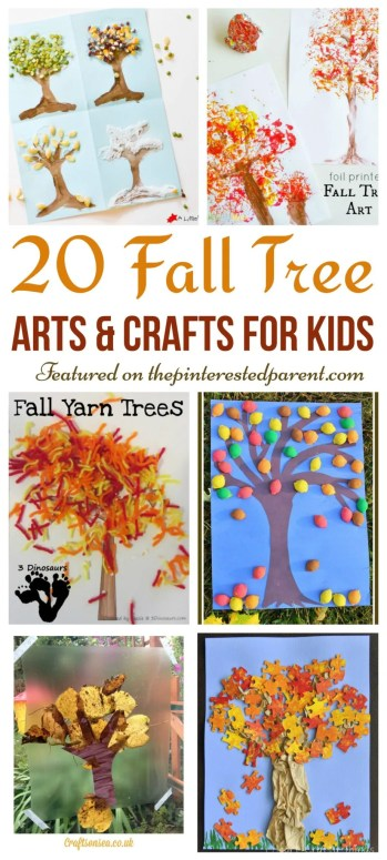 20 Beautiful Fall Tree Arts & Crafts Ideas for kids - Autumn crafts for preschoolers..