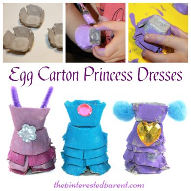 Egg Carton Princess Dresses. Kid's arts & crafts
