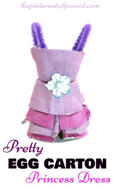 Egg carton princess dress craft - arts and crafts for kids with recyclables.