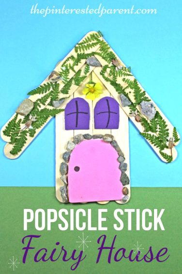 Popsicle Stick Fairy House Nature Craft - Kid's Arts & Crafts