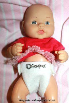 Felt diapers for dolls & pretend play - kid's life skills - arts & crafts,