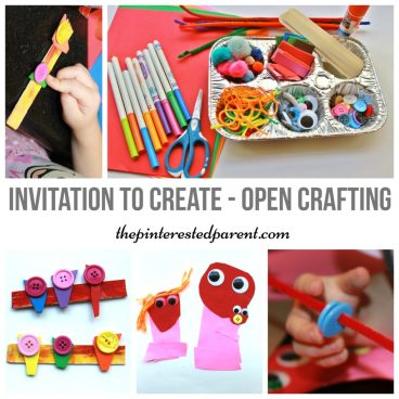 Open Ended Arts & Crafts for kids - invitation to create