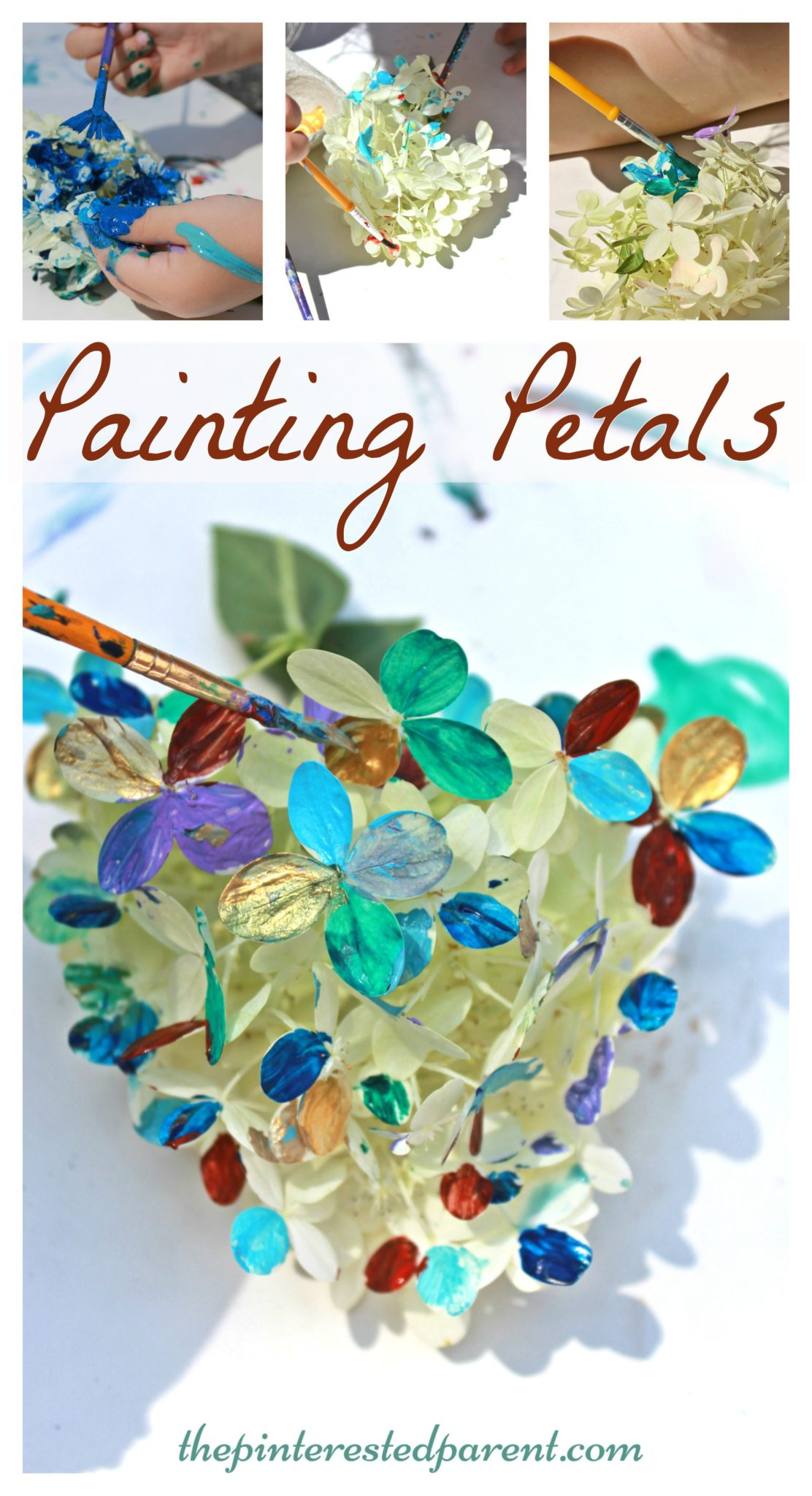 Painting Flower Petal  Nature Arts & Crafts Activities For