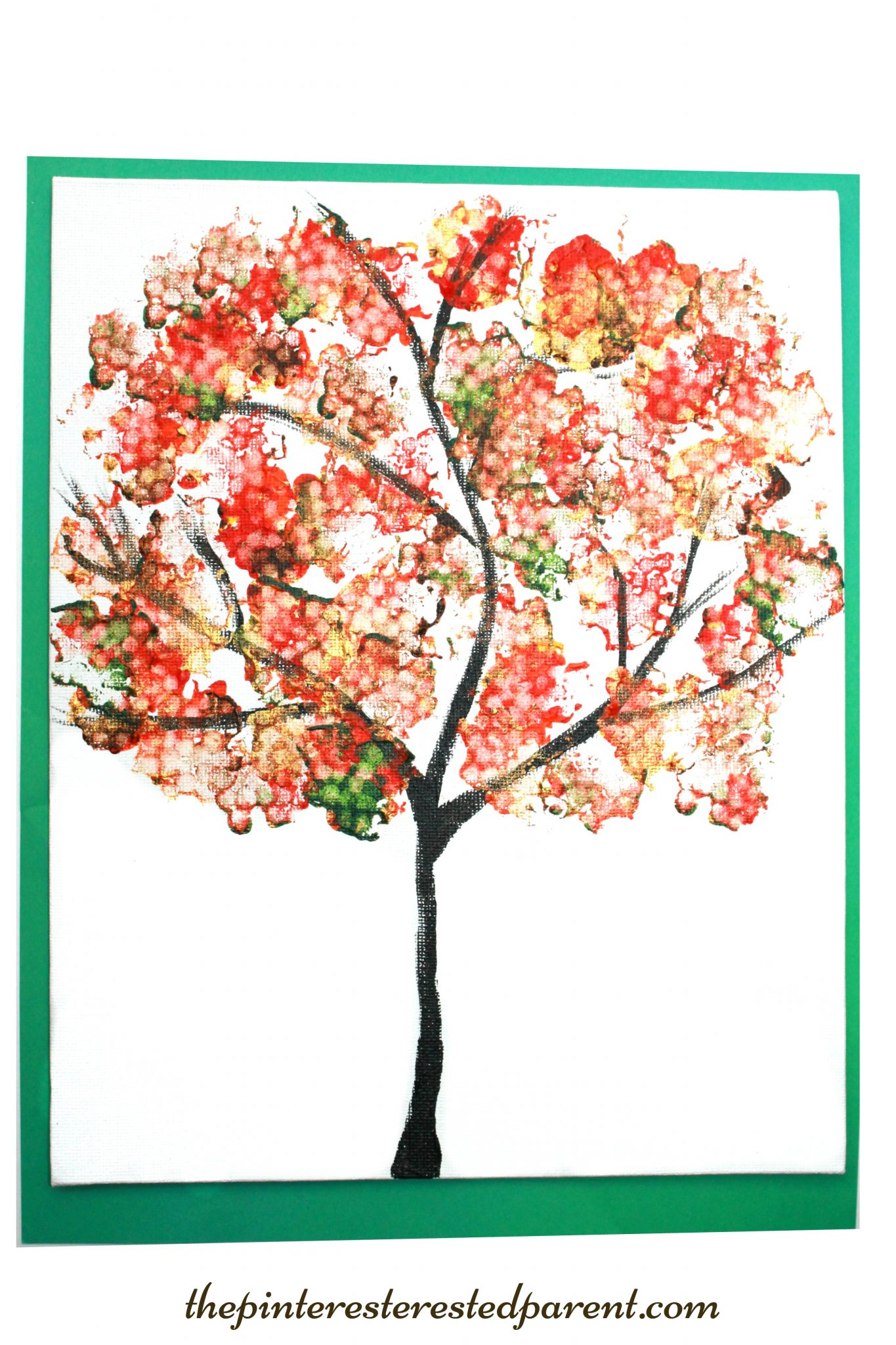 Bundled q tip autumn tree the pinterested parent for Autumn tree painting