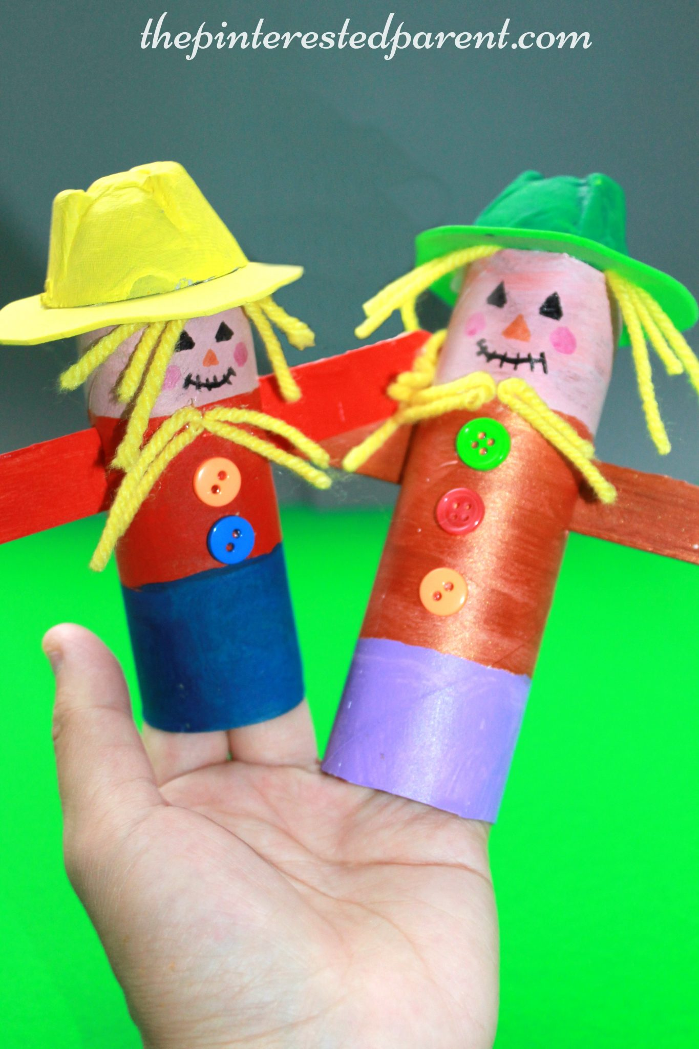 crafts ideas for kids toilet paper scarecrows the pinterested parent 4142