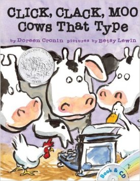 CLick Clack Moo by Doreen Cronin - funny books for preschoolers