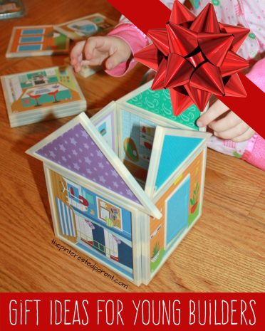 Christmas gifts for young builders and engineers. Imagine and construct dollhouse for kids from Oriental Trading.