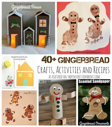 Over 40 gingerbread inspired arts and crafts, activities, sensory and recipes. Gingerbread house and gingerbread men projects for kids