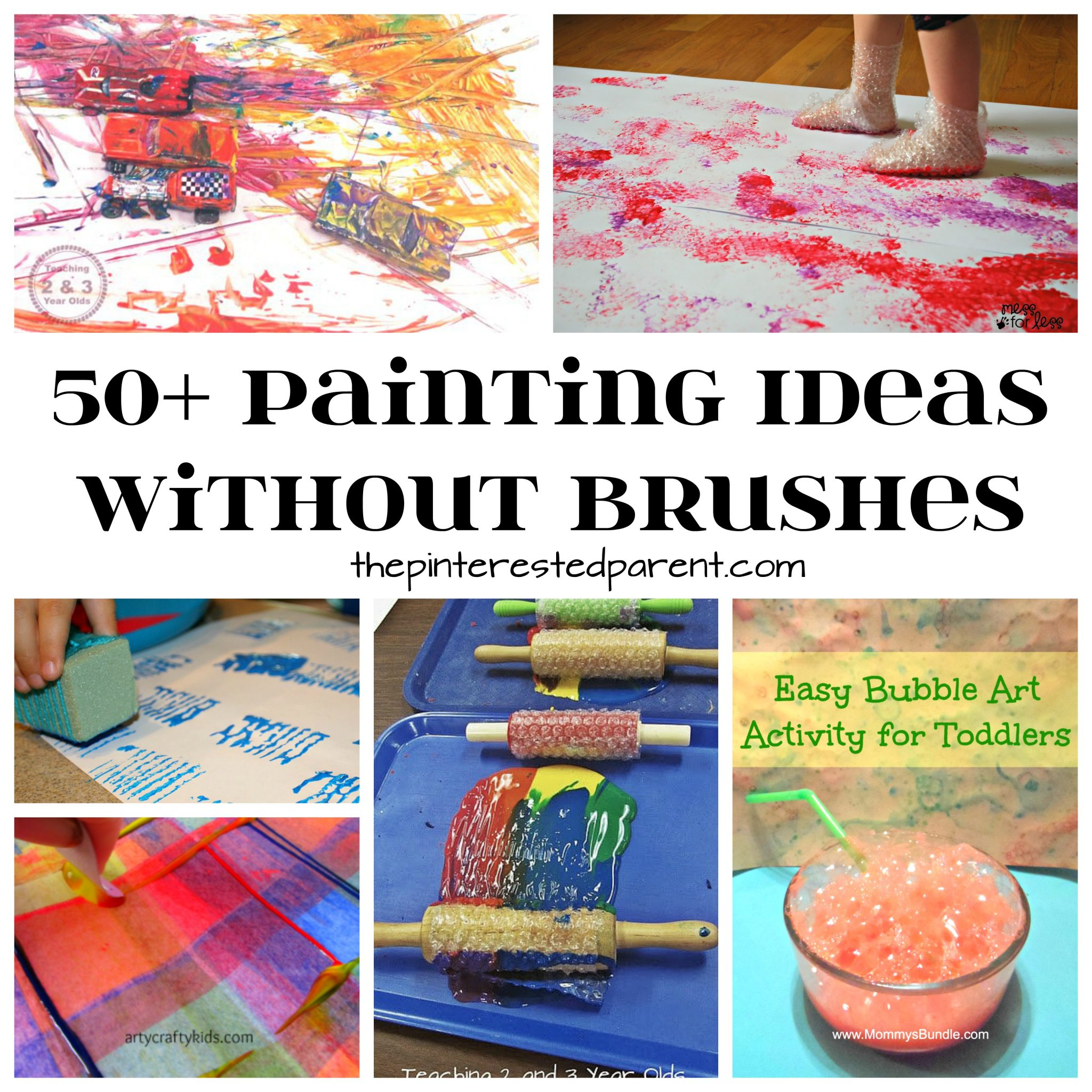 50 Painting Without Brushes Ideas The Pinterested Parent