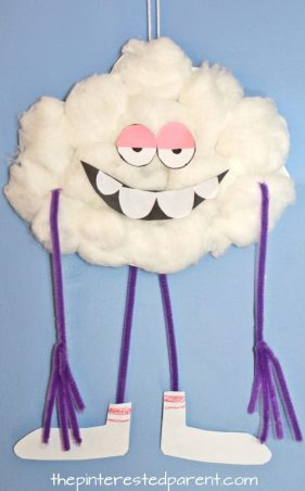 Paper Plate Craft inspired by Cloud Guy character from the Dreamworks movie Trolls. Kid's arts and crafts