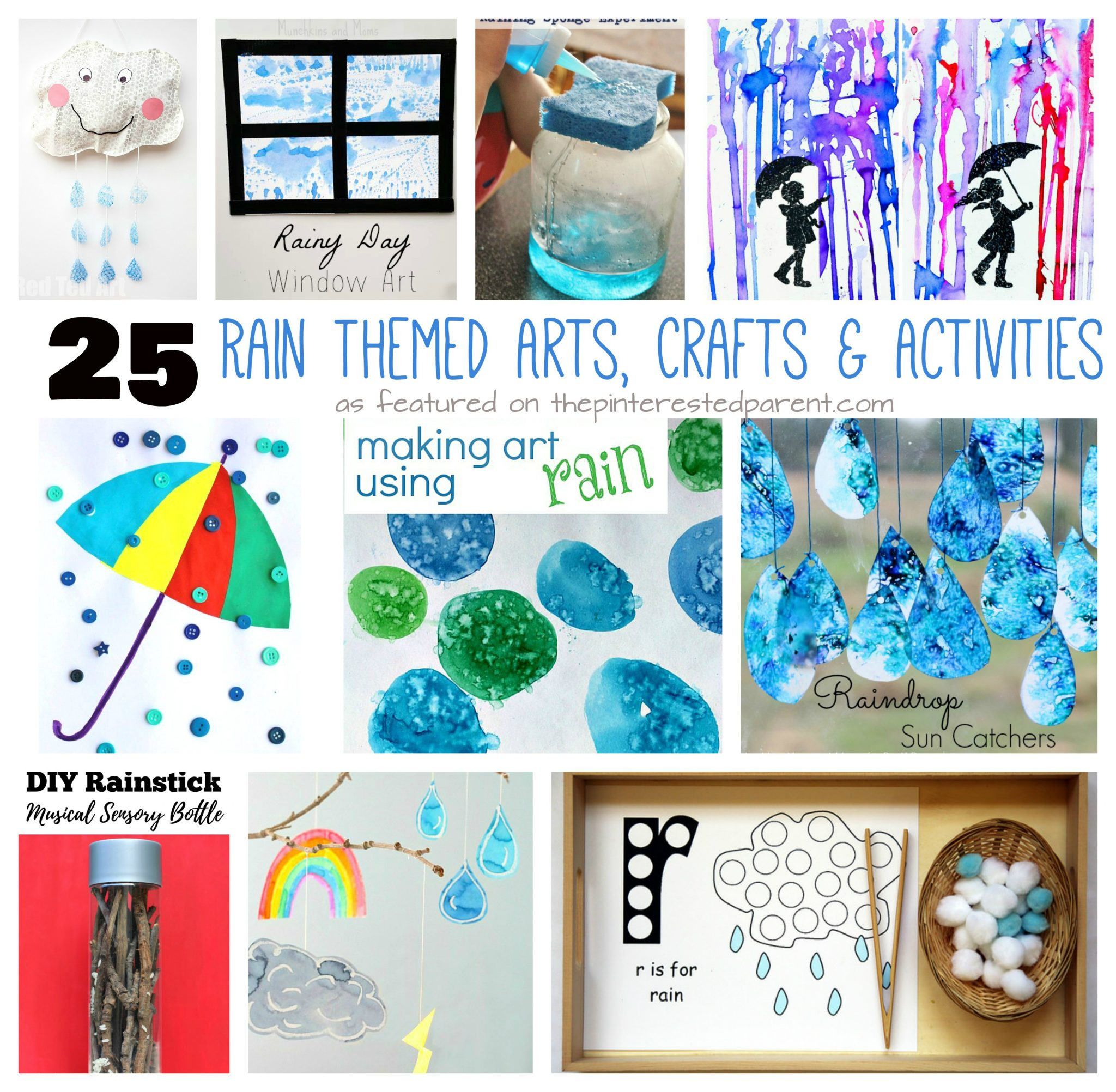25 Rain Themed Arts Crafts Activities The Pinterested Parent