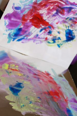 Tin Foil Printing - easy process art and paint print project for kids, toddlers and preschoolers