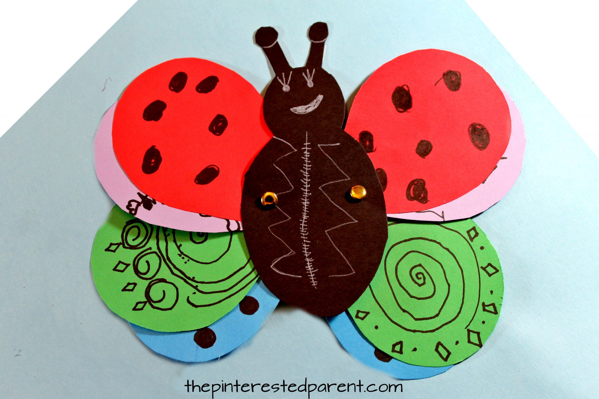 Transforming ladybug butterfly craft the pinterested parent for Ladybug arts and crafts