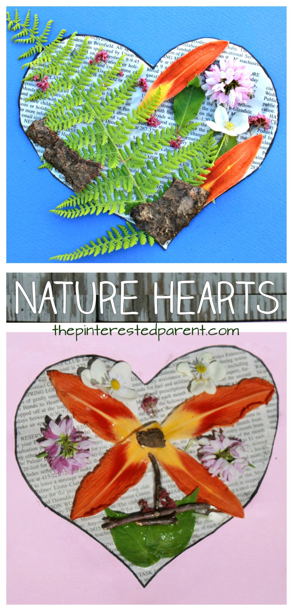 Nature Hearts Art The Pinterested Parent