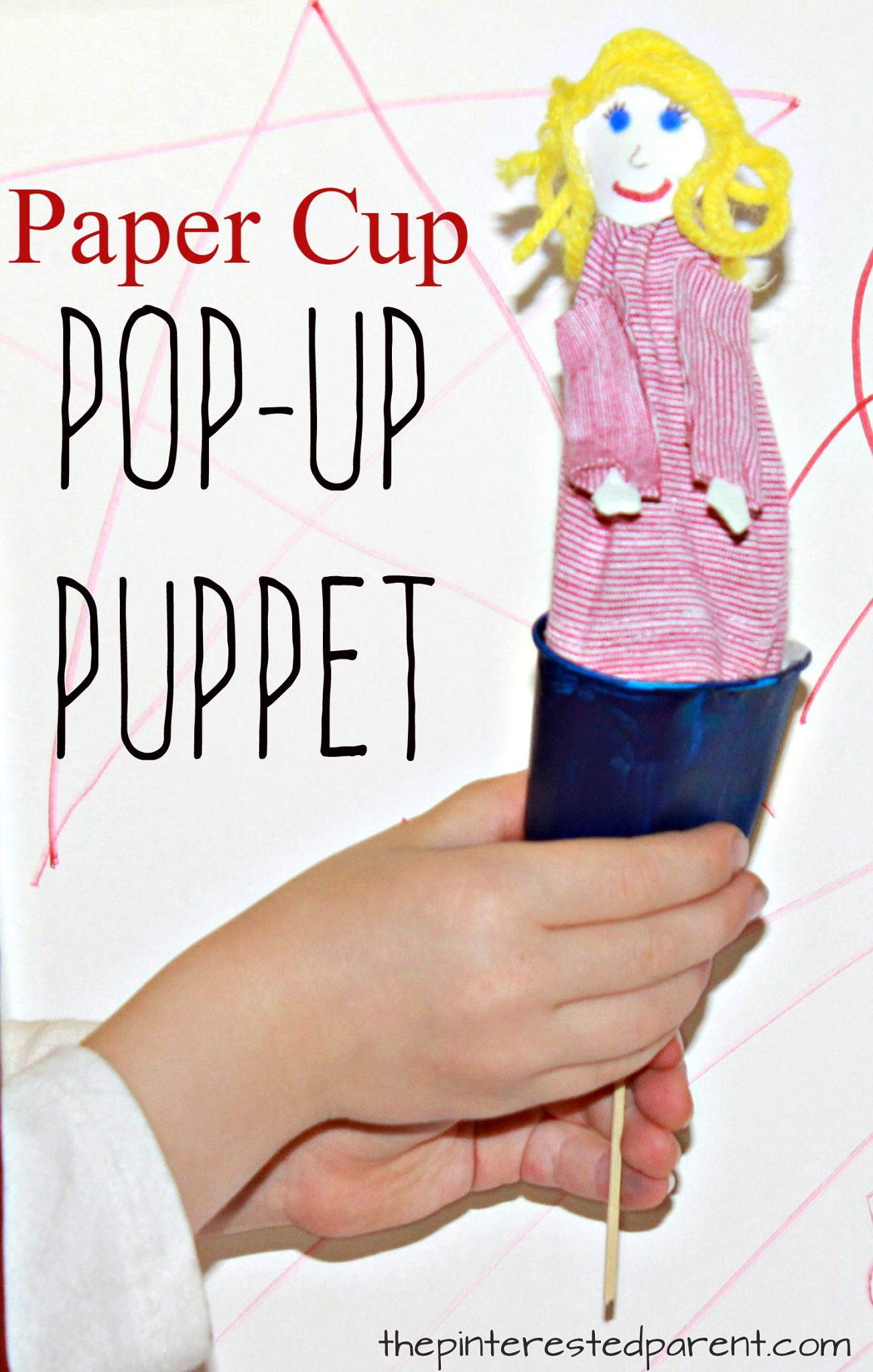 Paper Cup Pop Up Puppet The Pinterested Parent