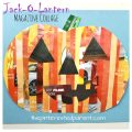 Jack-o-lantern magazine collage with two different printable pumpkin templates. Fall and Halloween arts and crafts for kids