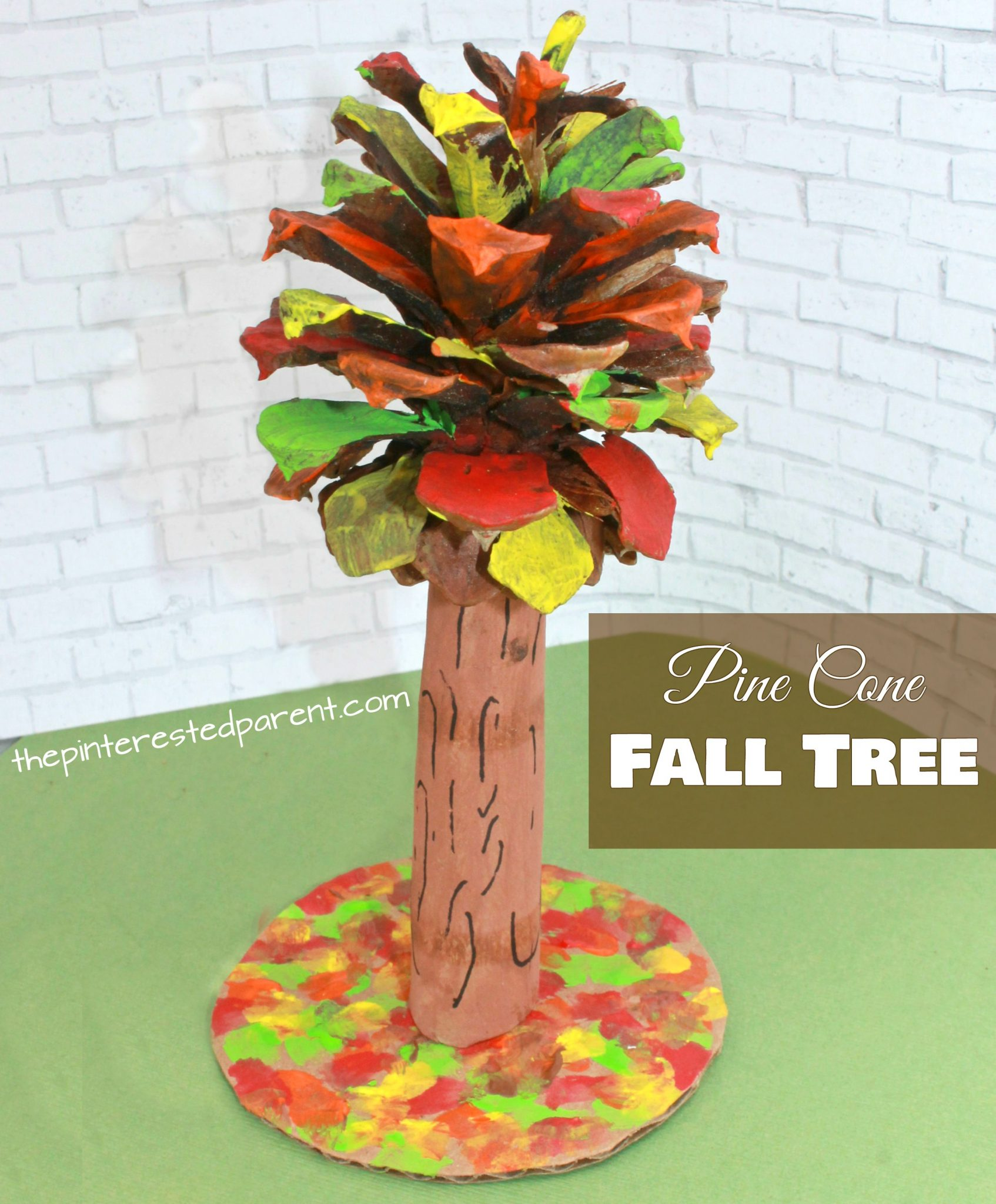 pine cone fall tree craft the pinterested parent. Black Bedroom Furniture Sets. Home Design Ideas