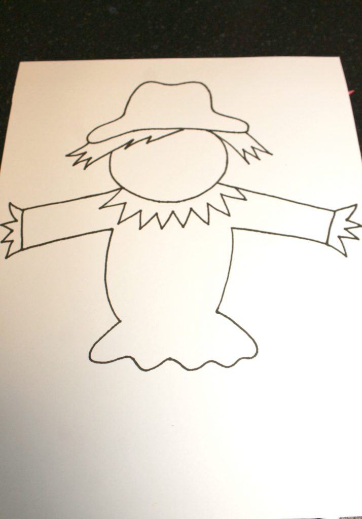 photograph relating to Scarecrow Template Printable referred to as Black Glue Scarecrow Puppets The Pinterested Father or mother