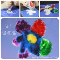 Salt and watercolor paintings. This is a cool process that the kids will love. Arts and crafts for kids