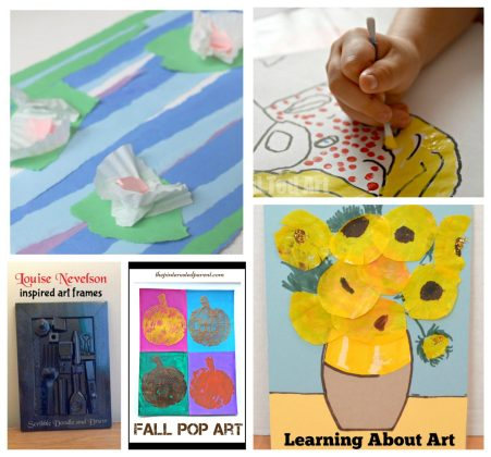 30 artist inspired art projects for kids. Arts & crafts inspired by famous artists