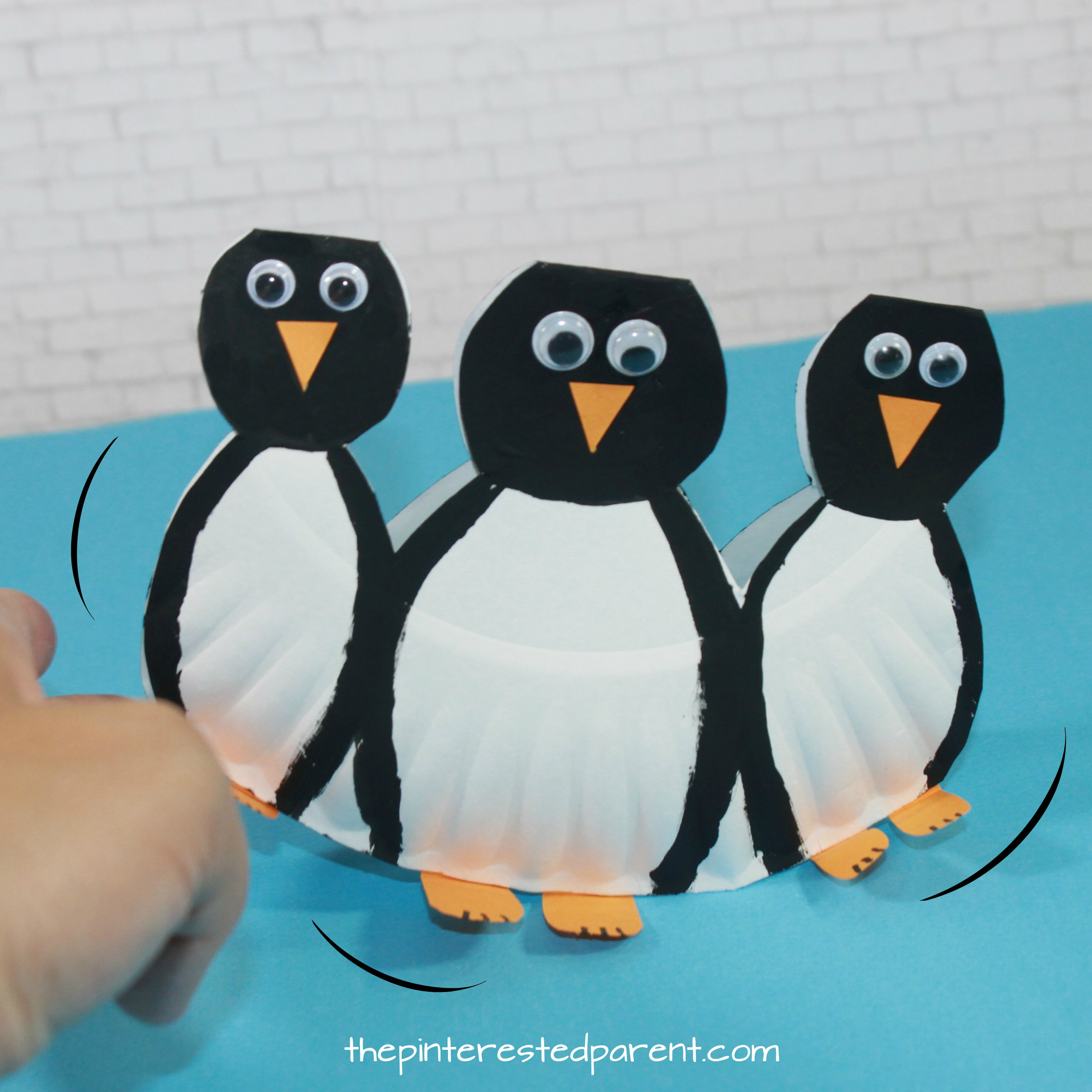 Rocking Paper Plate Penguins with printable template look like they are waddling. Winter arts and  sc 1 st  The Pinterested Parent & Rocking Paper Plate Penguins \u2013 The Pinterested Parent