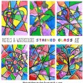 Pastels & Watercolors Stained Glass art project for kids. Kids arts and crafts. Beautiful for Christmas or year round