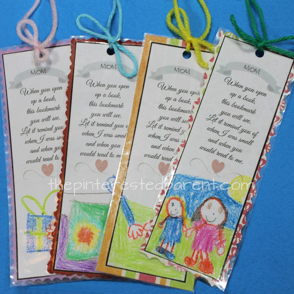 When you open up a book, this bookmark you will see. Let it remind you of when I was small and when you would read to me. Printable Mother's Day bookmark. Available in grandma too.