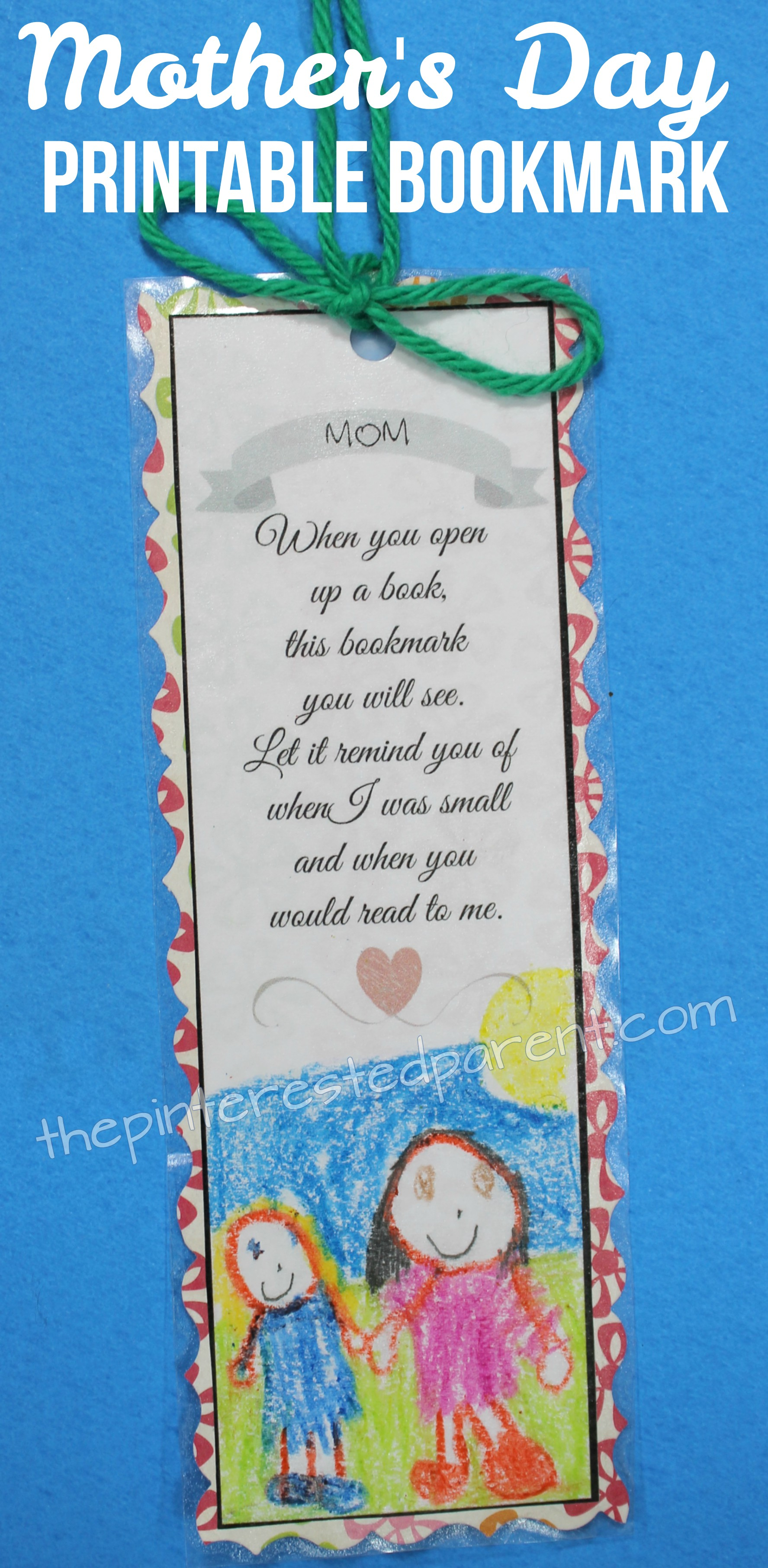 photo relating to Printable Bookmark referred to as Moms Working day Printable Bookmark The Pinterested Mum or dad
