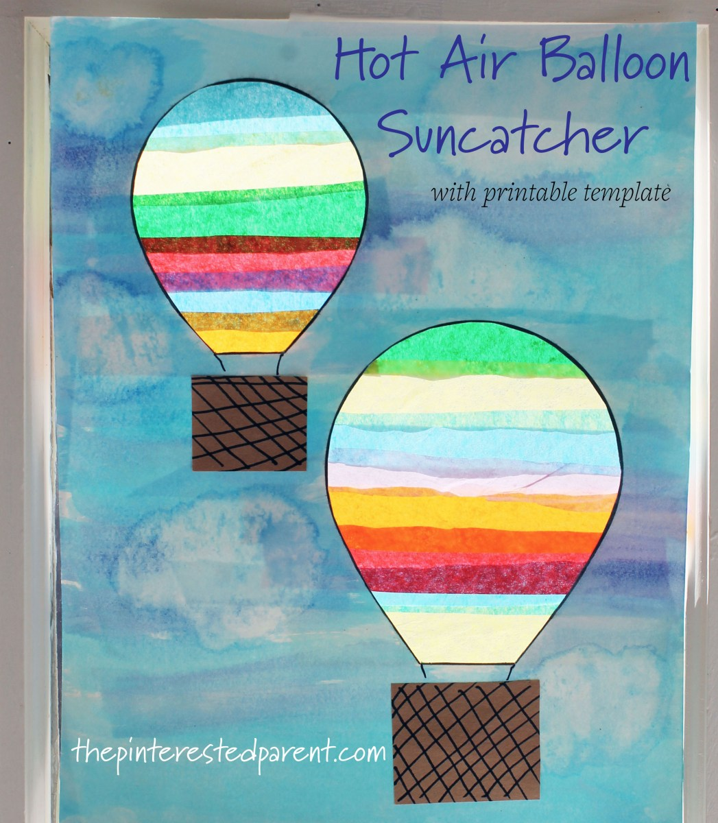 Hot Air Balloon Suncatcher